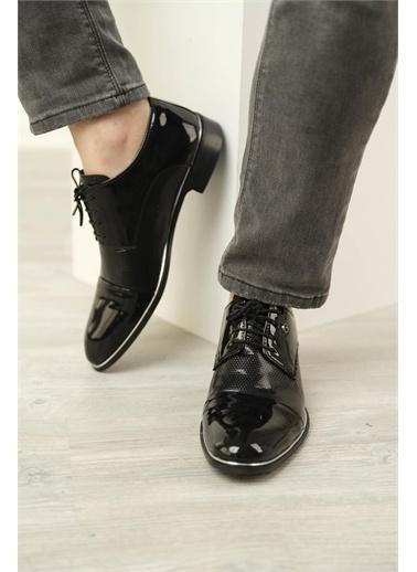 Oksit Mauricio Rugan Bağcıklı Hafif Taban Erkek Ayakkabı Siyah